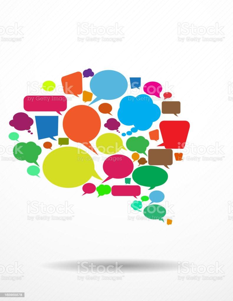 Speech Bubble vector art illustration