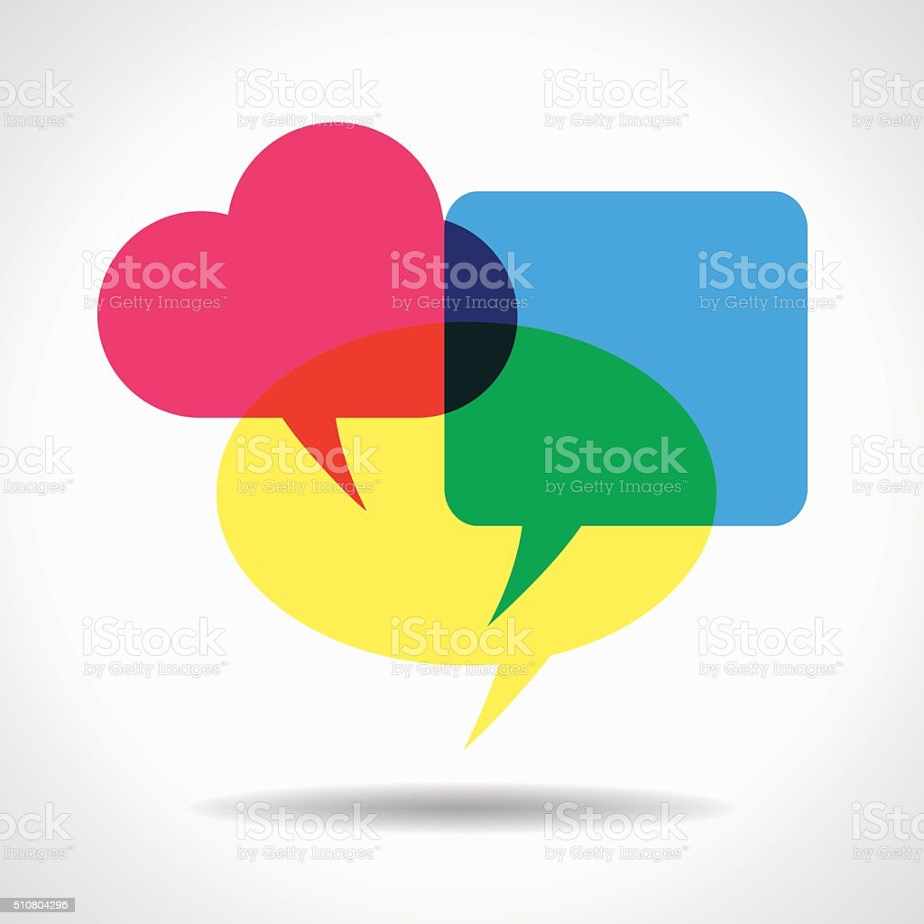 speech bubble vector art illustration
