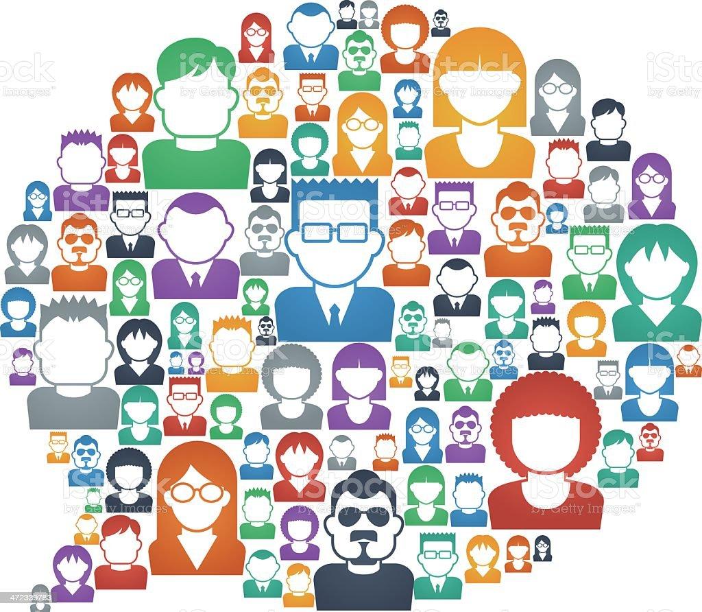 Speech bubble[People] vector art illustration