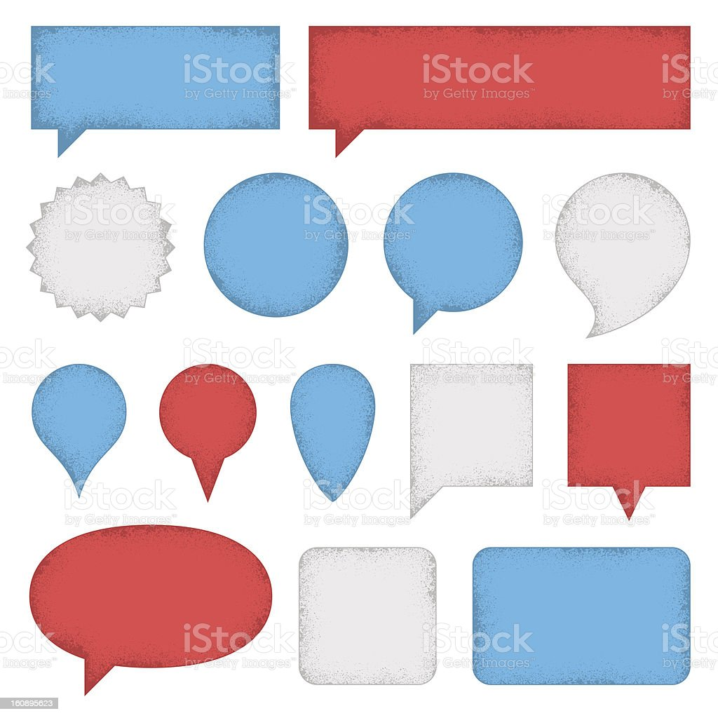 Speech Bubbles and Labels stock photo