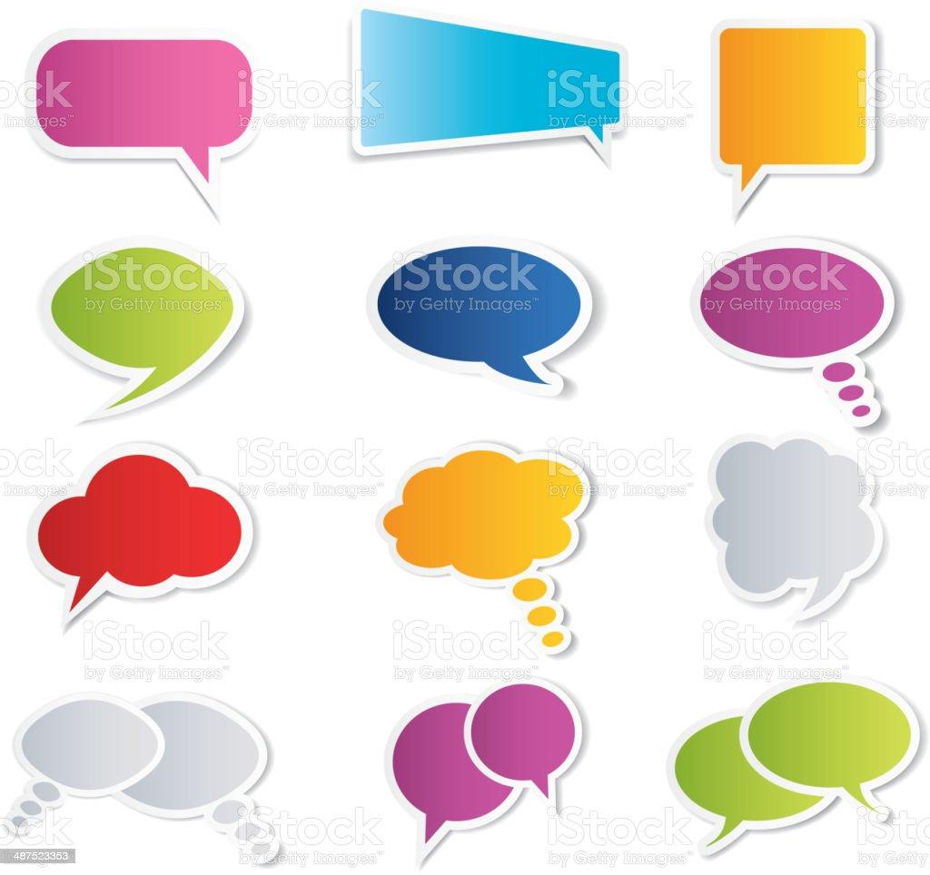 Speech Bubbles Collection vector art illustration