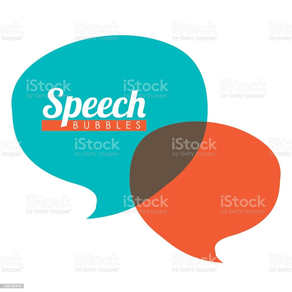 speech bubbles communication vector art illustration