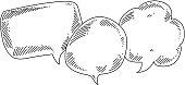 Speech bubbles Drawing