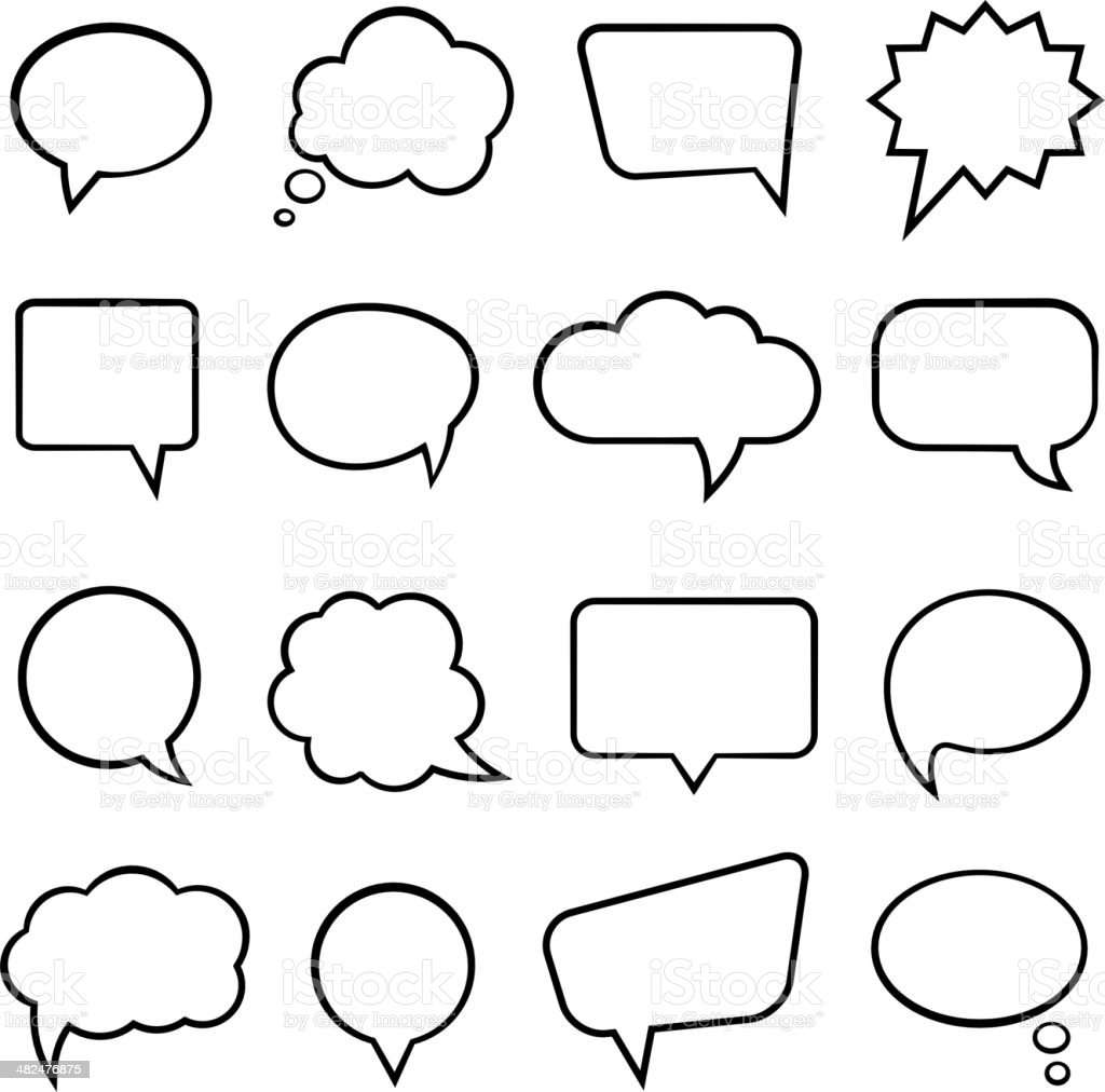 Speech bubbles for infographics vector art illustration