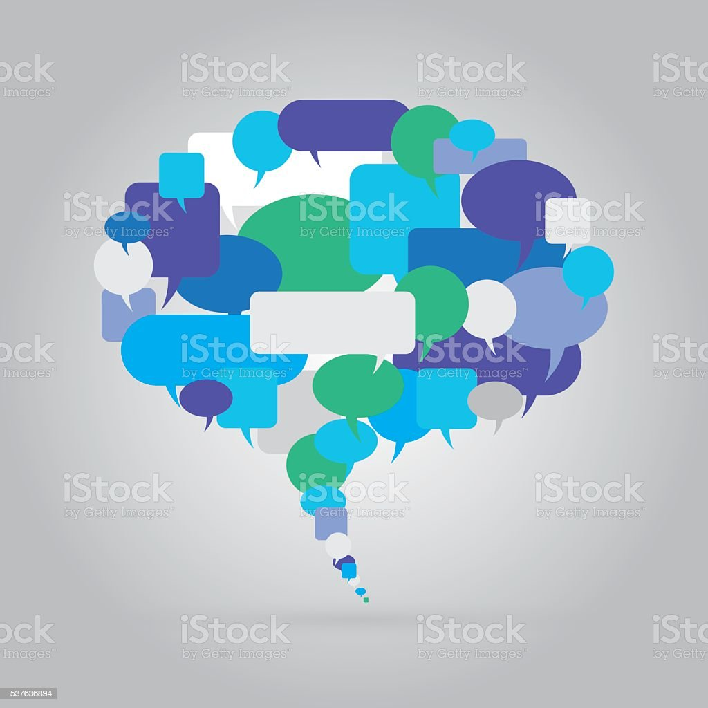 Speech Bubbles Group vector art illustration