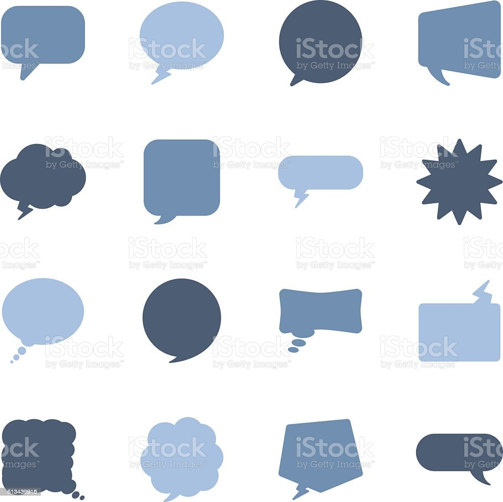 speech bubbles icons vector art illustration