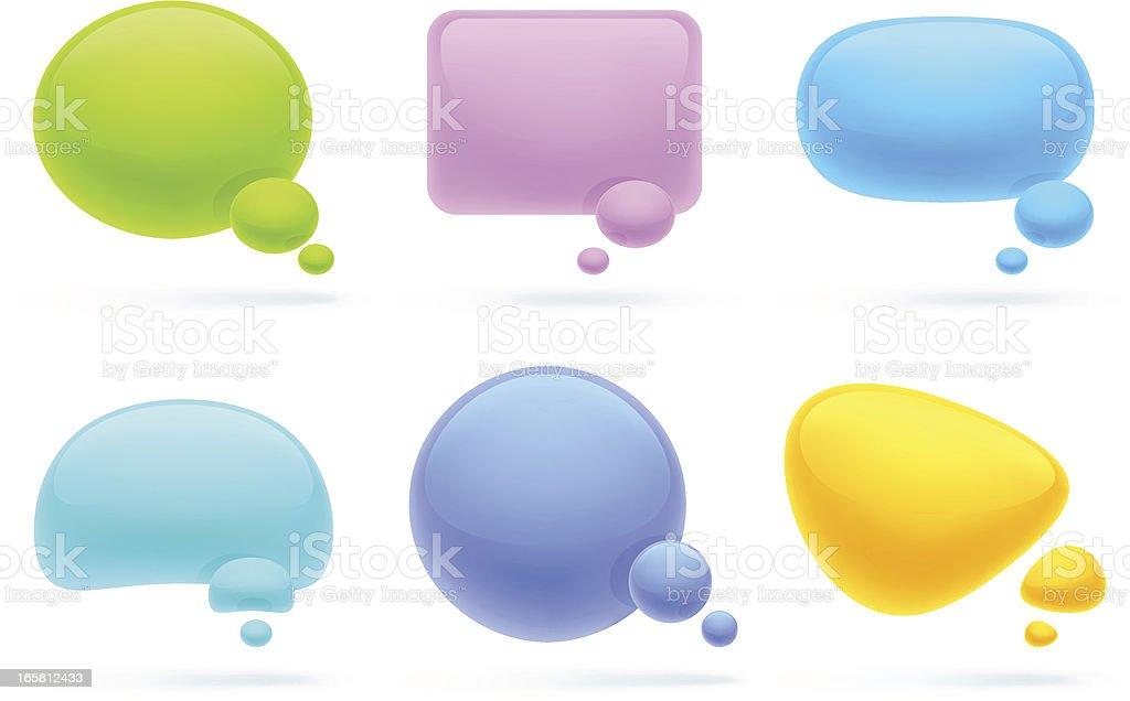 Speech bubbles | modern color set 1 royalty-free stock vector art