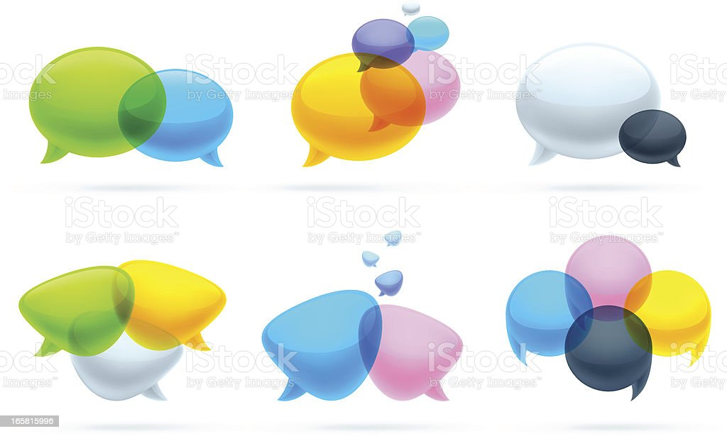 Speech bubbles set royalty-free stock vector art