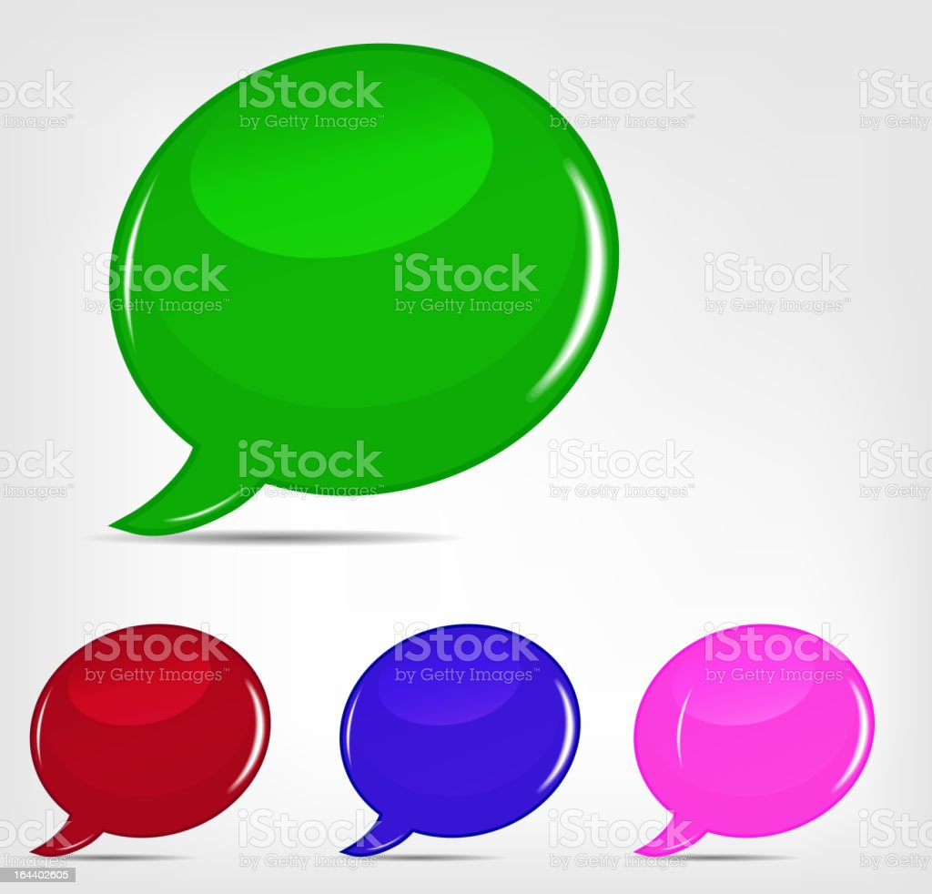 Speech bubbles set vector illustration royalty-free stock vector art
