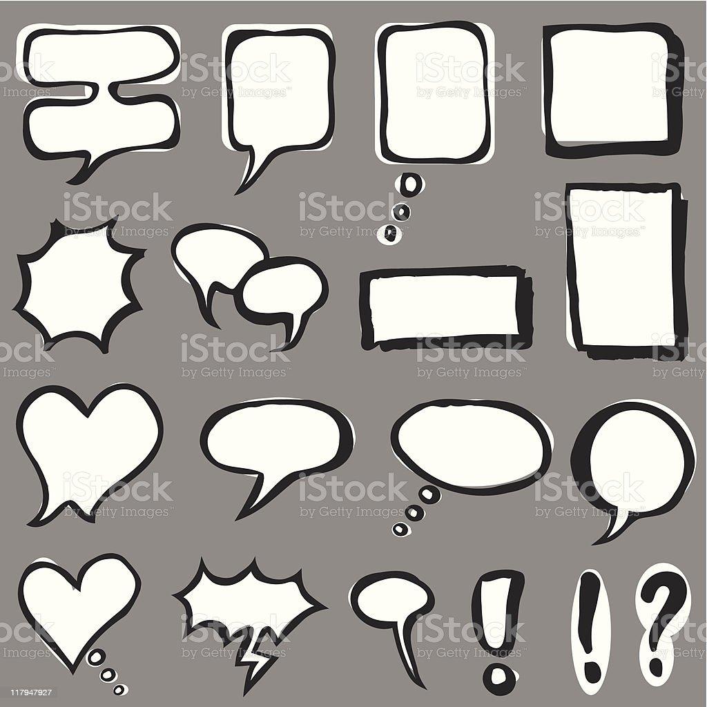 Speech Bubbles (vector) royalty-free stock vector art