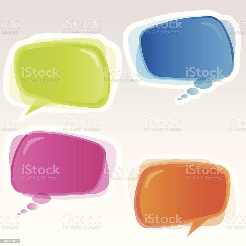Speech bubbles. stock photo