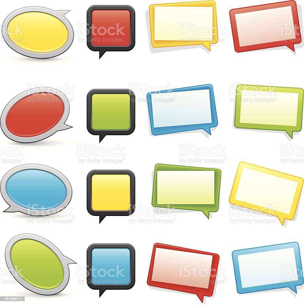 Speech bubbles vector art illustration