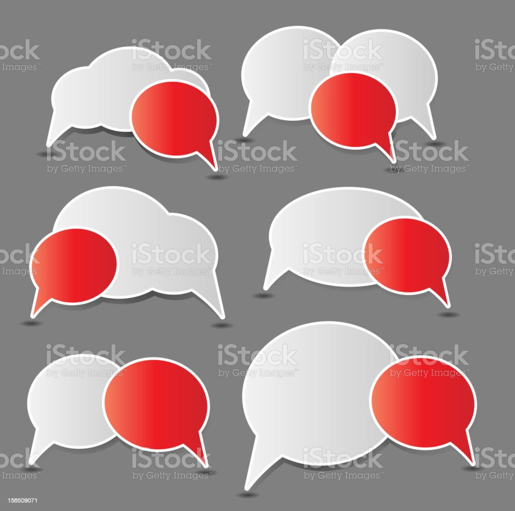 Speech bubbles vector illustration royalty-free stock vector art