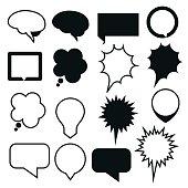 speech bubbles vector set