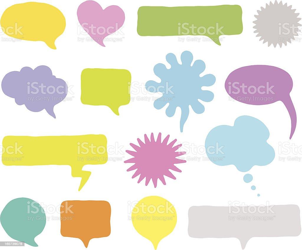 Speech Bubbles   vector royalty-free stock vector art