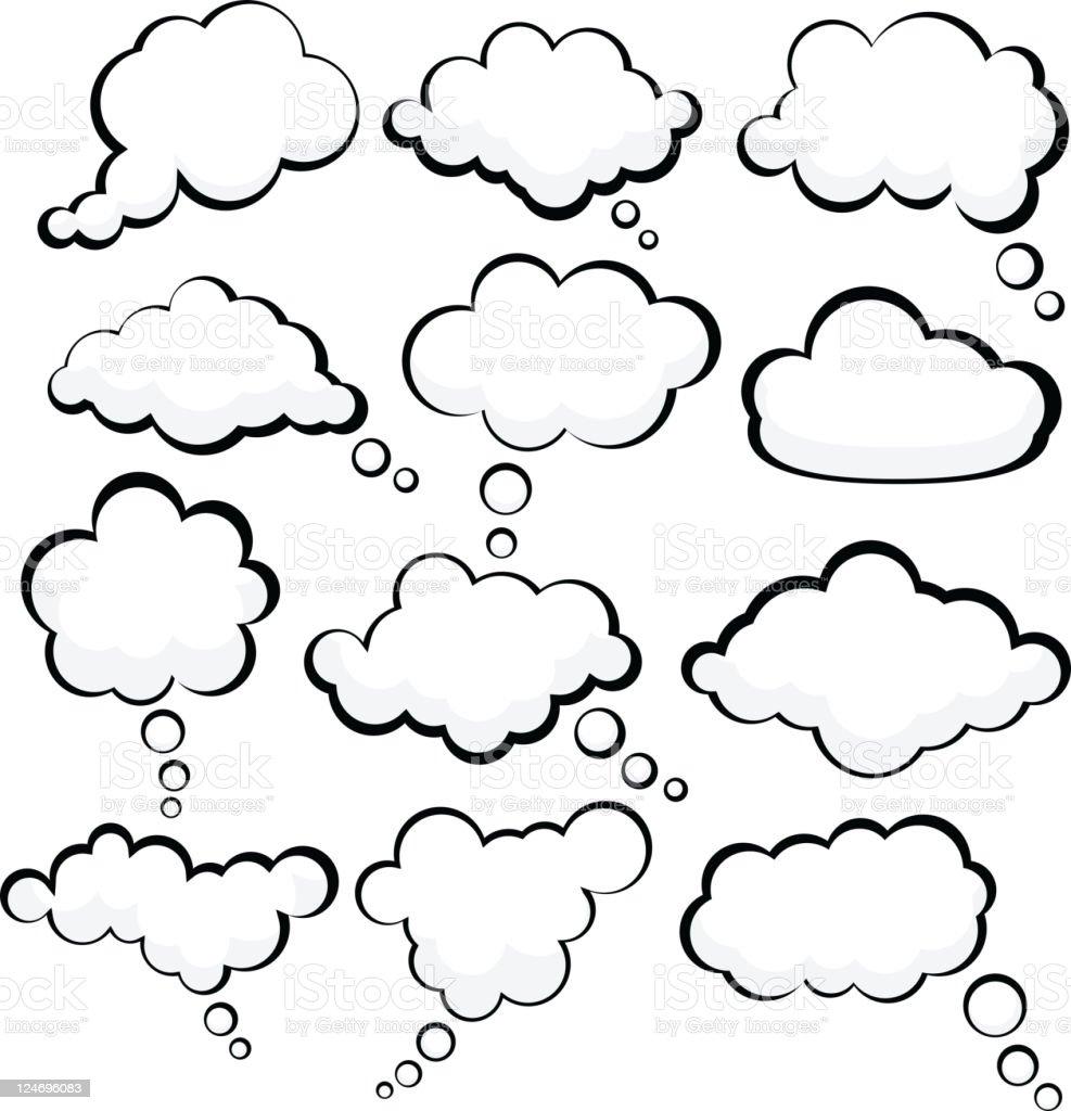 Speech clouds. royalty-free stock vector art
