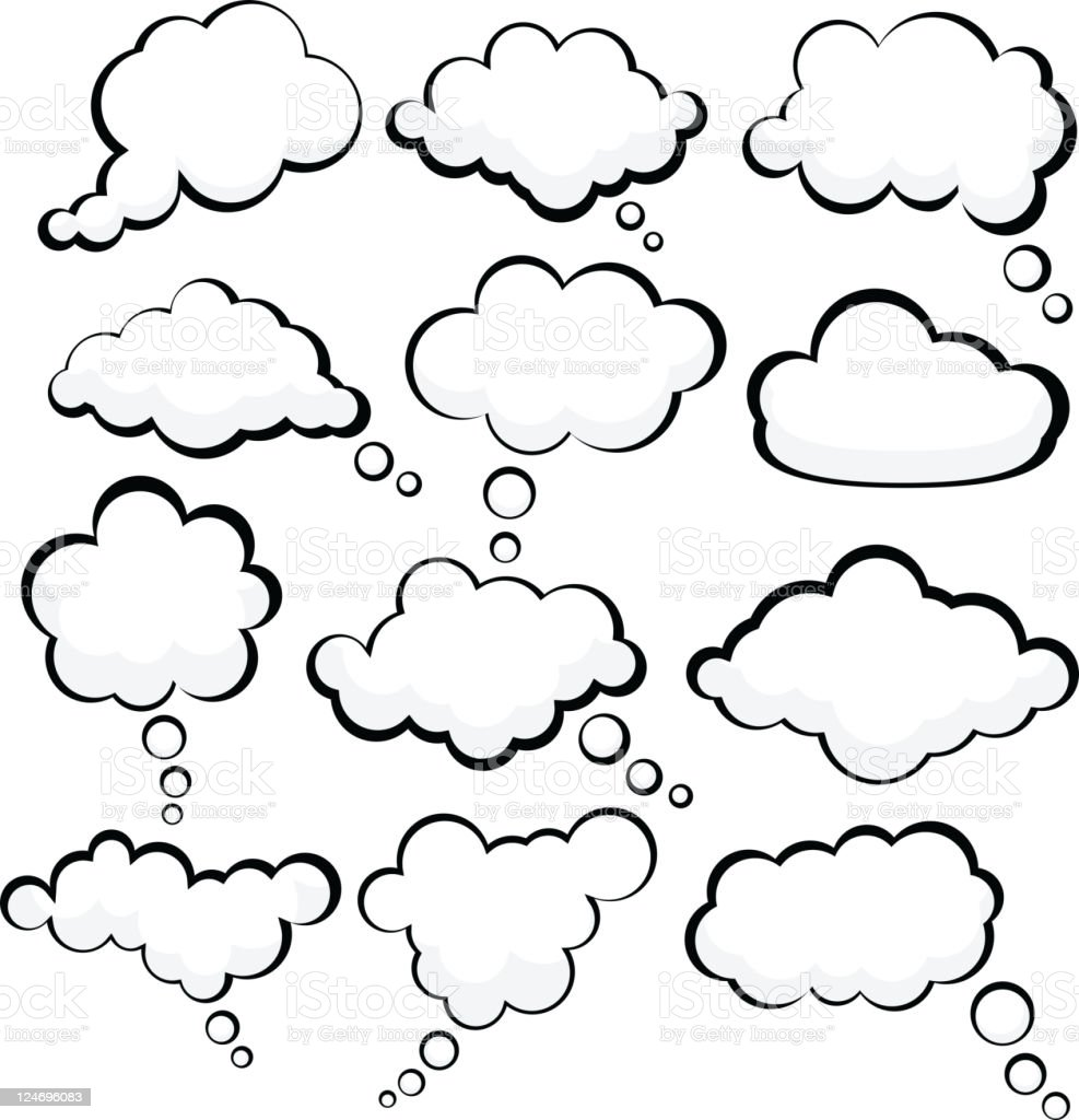 Speech clouds. vector art illustration