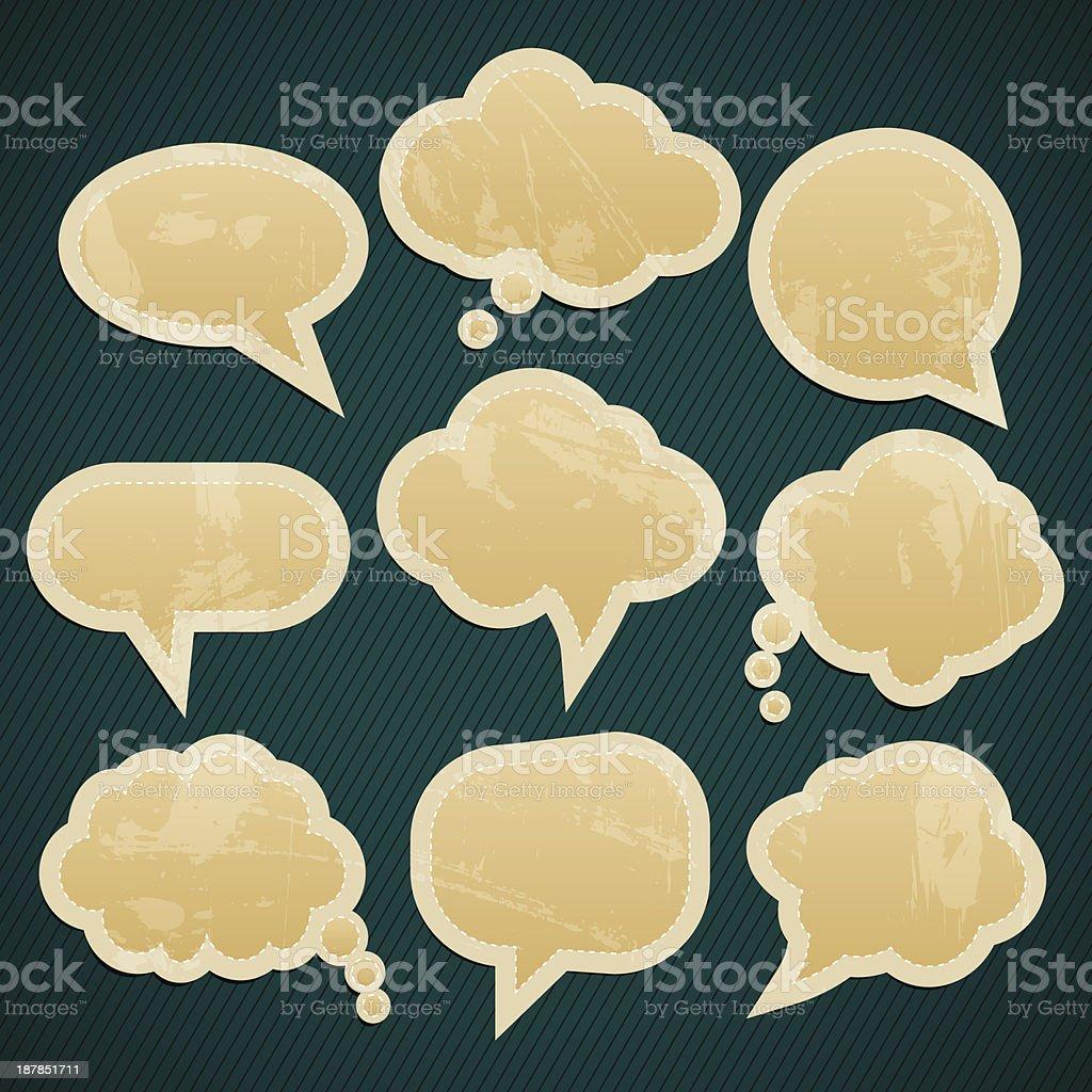 speech clouds royalty-free stock vector art