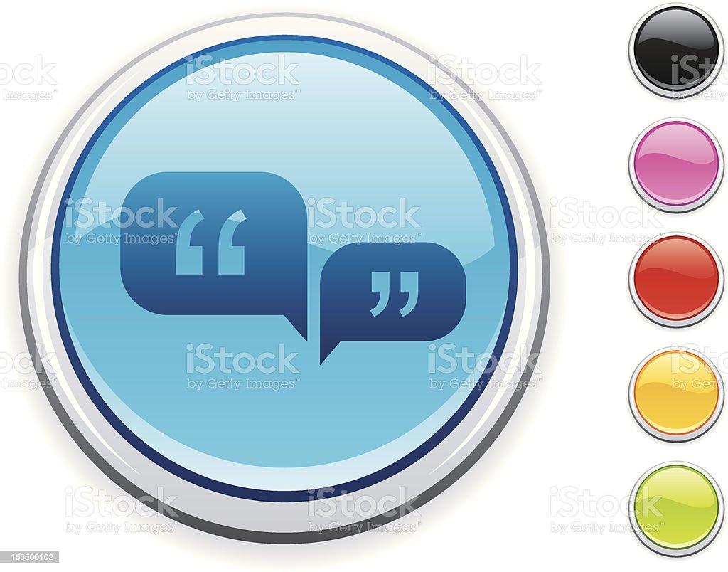 Speech icon royalty-free stock vector art