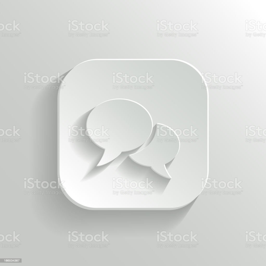 Speech icon royalty-free stock vector art