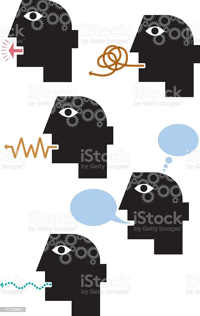Speech icons royalty-free stock vector art