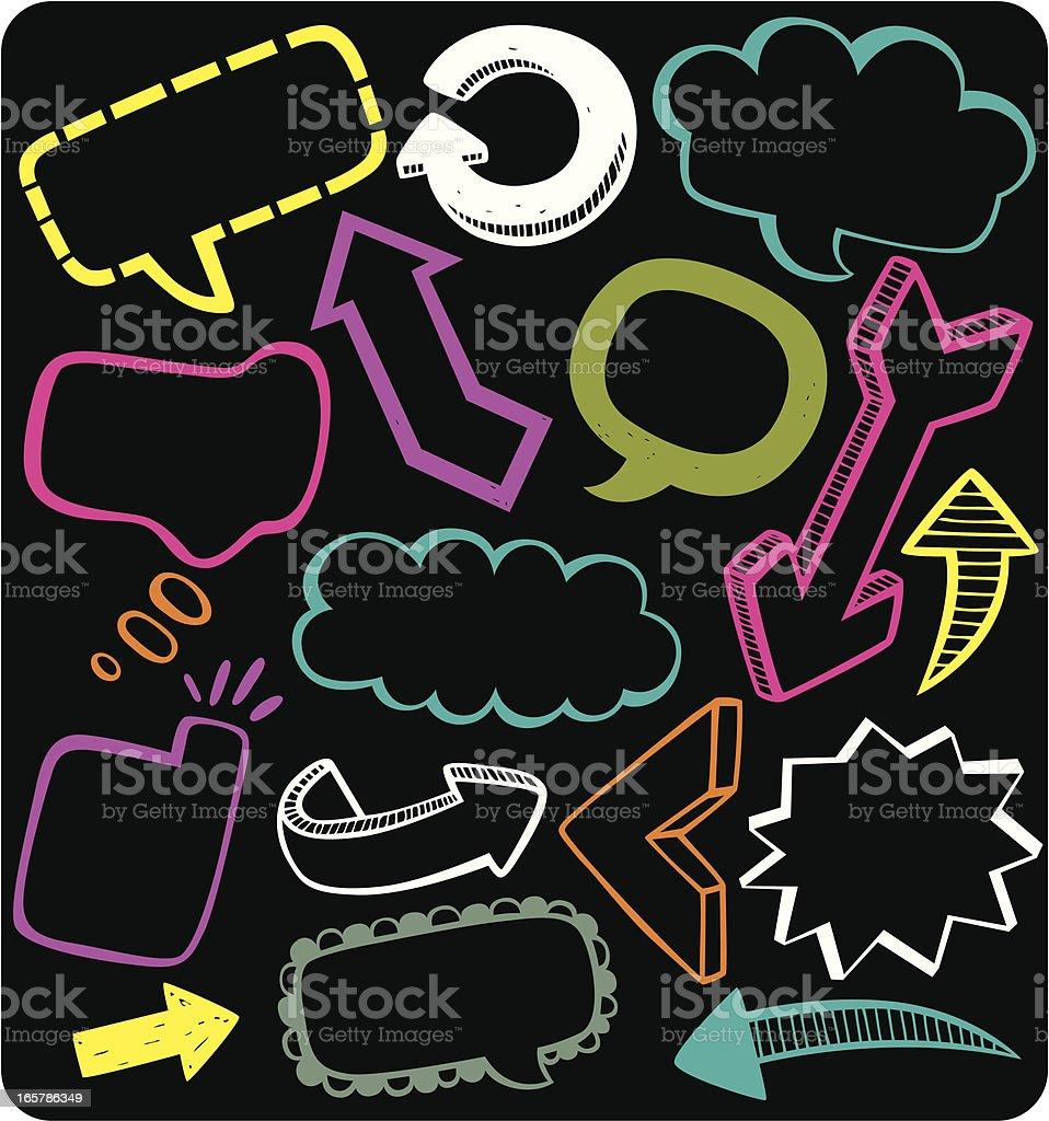 speech messages & arrows royalty-free stock vector art
