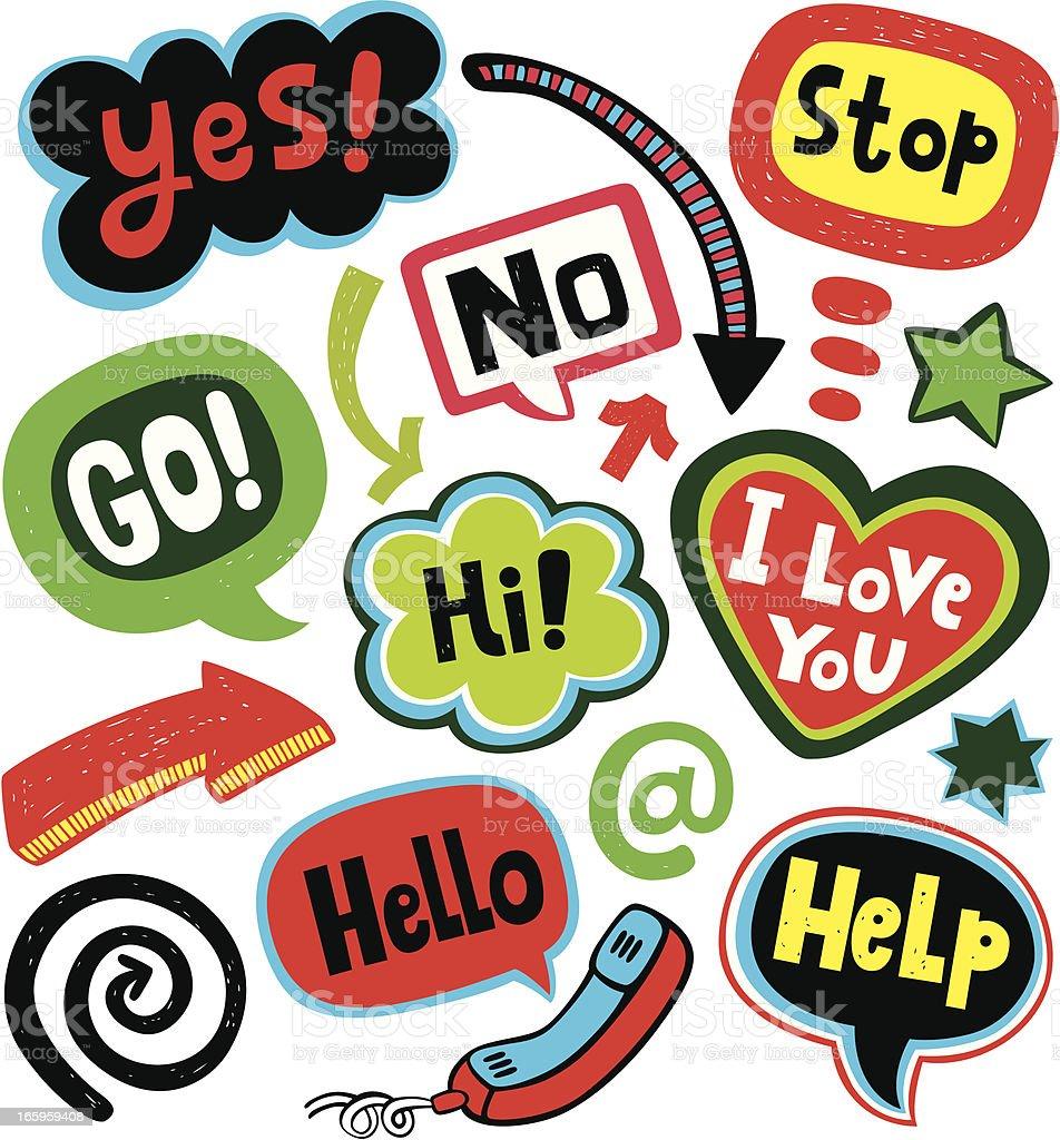 Speech Messages royalty-free stock vector art
