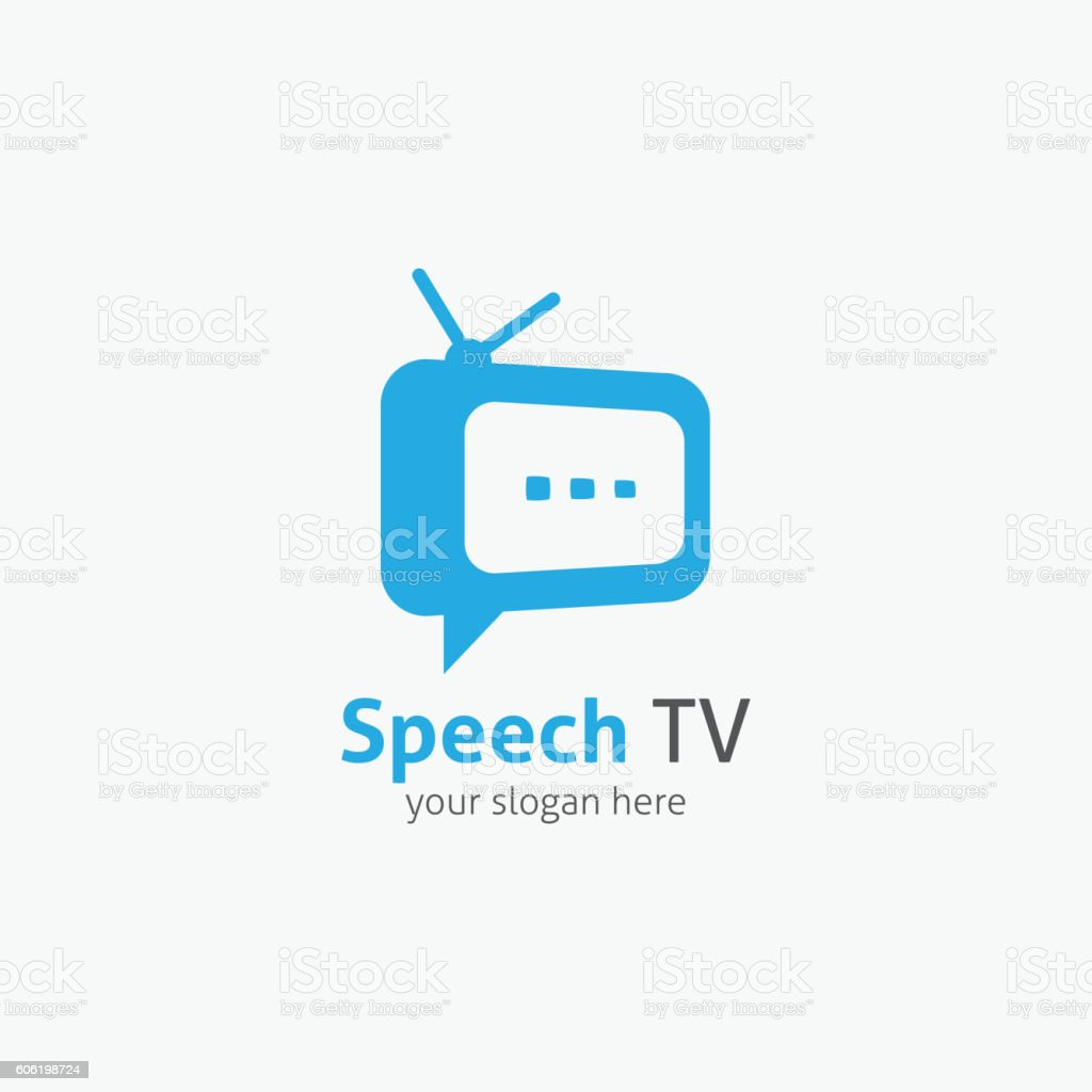 Speech TV Logo vector art illustration