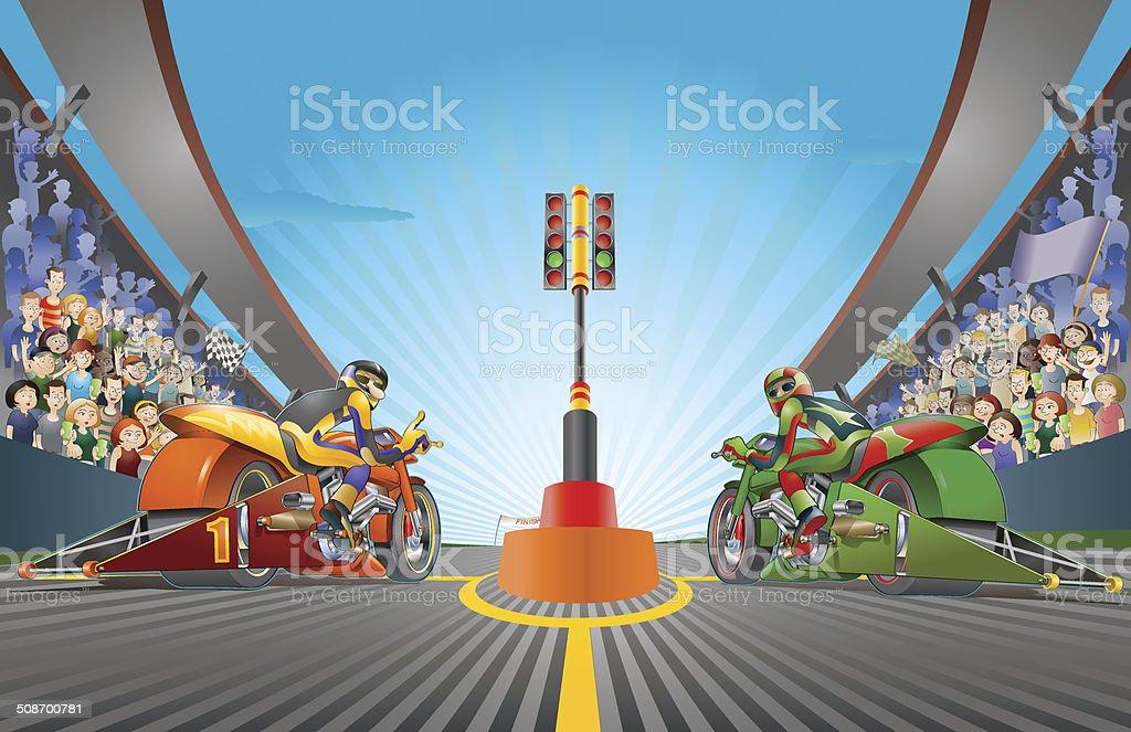 Speed battle vector art illustration