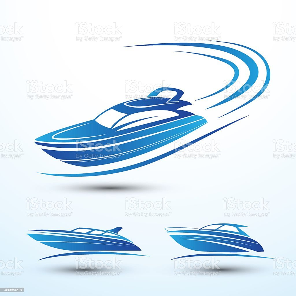 Speed boat vector art illustration