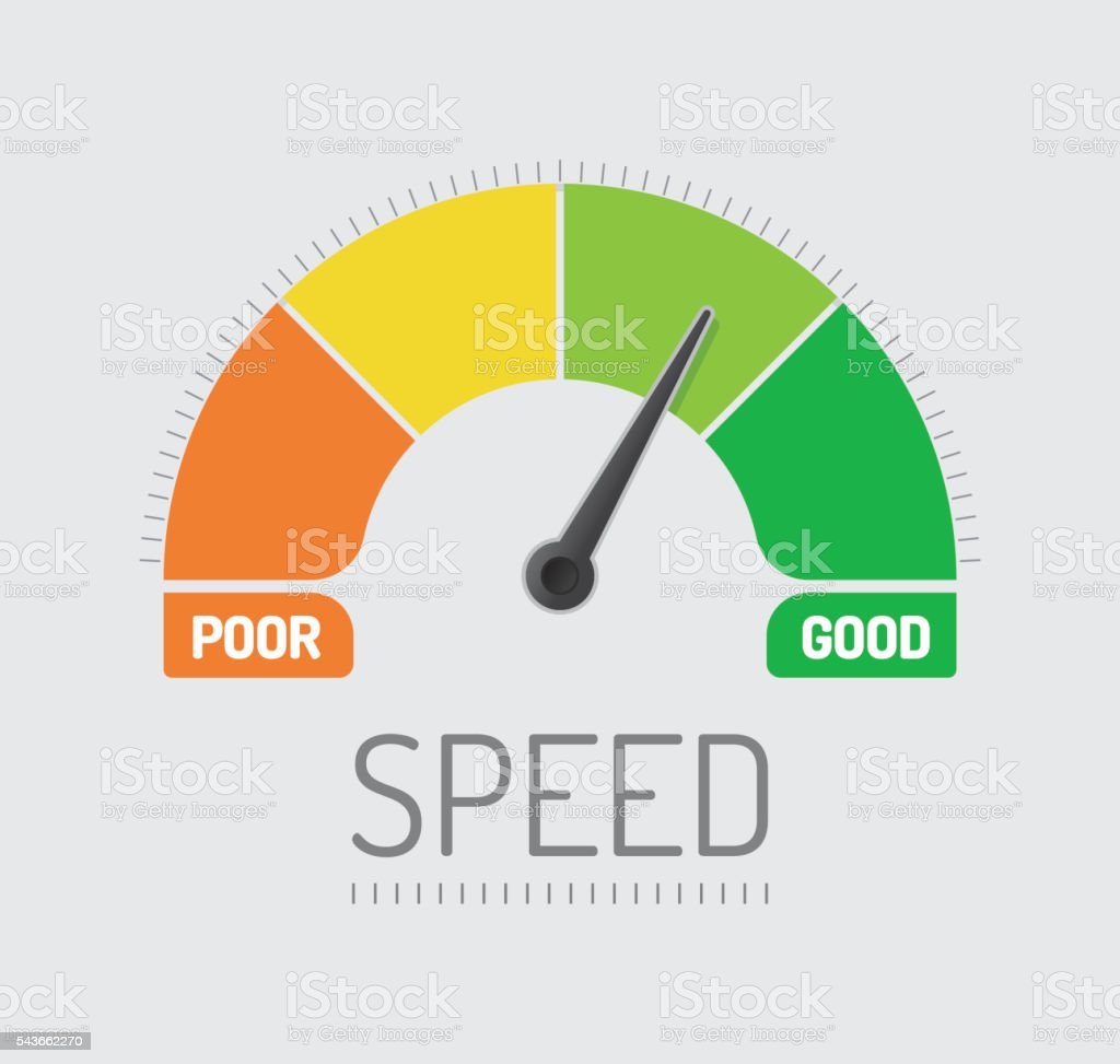 Speed Chart vector art illustration
