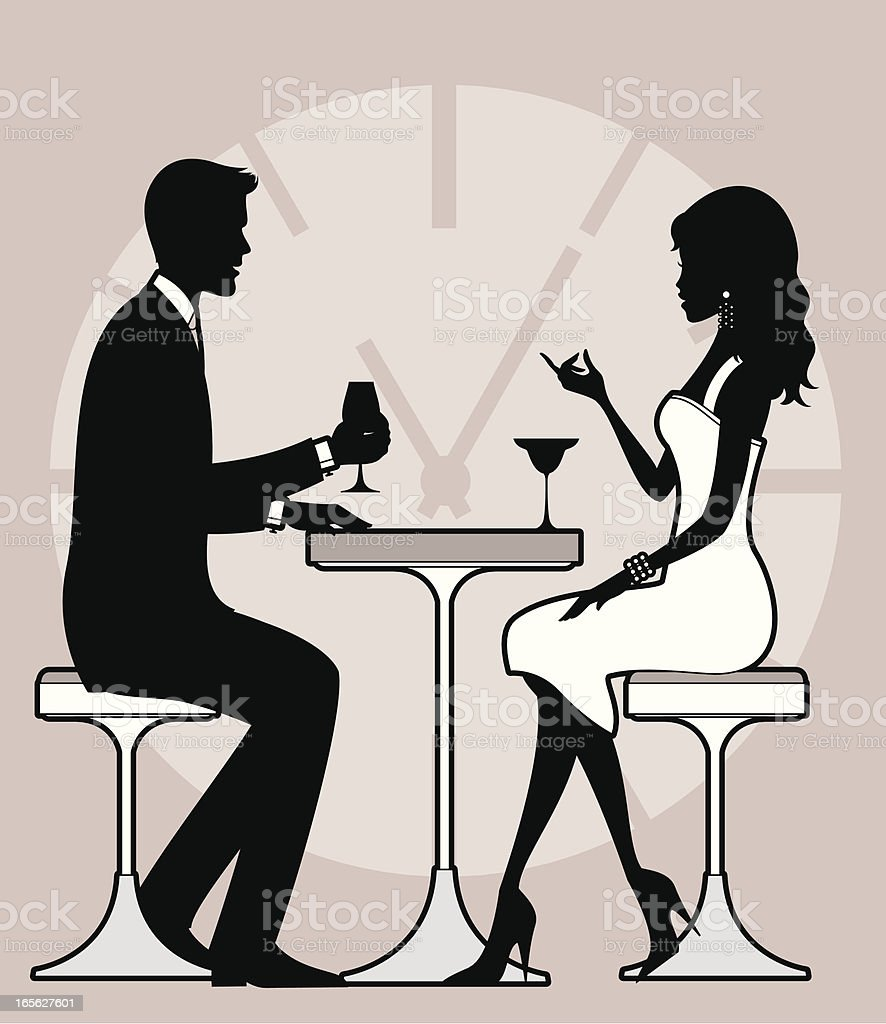 Speed dating royalty-free stock vector art