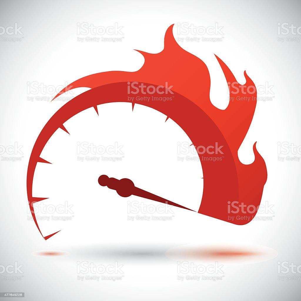 Speed design. vector art illustration