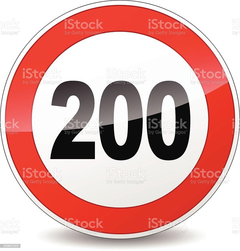 speed limit sign vector art illustration