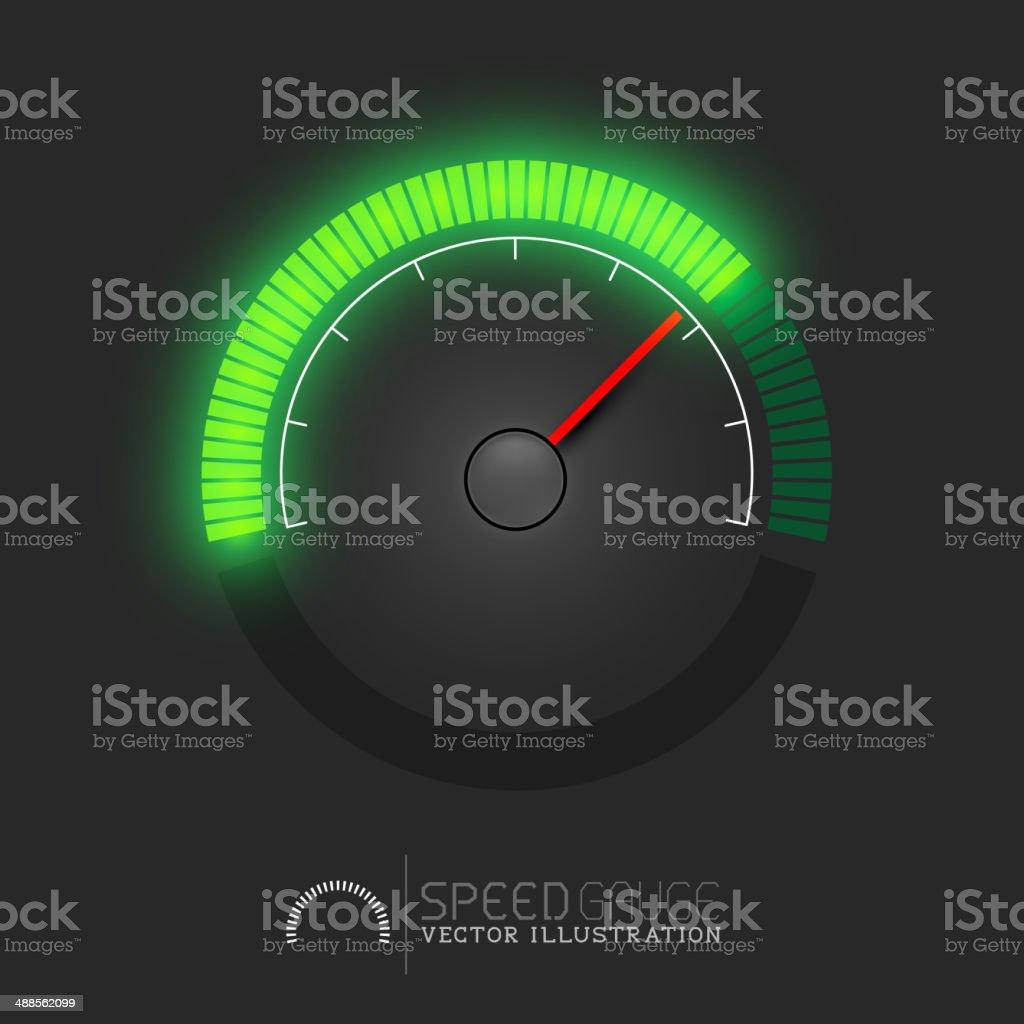 Speed Meter Vector vector art illustration