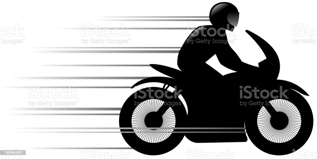 speed motorcycle silhouette royalty-free stock vector art