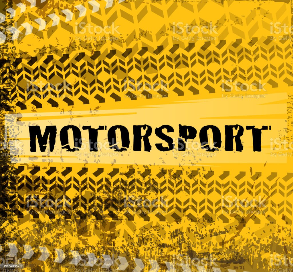 drawn of vector blank Motorsport banner.This file has been used...