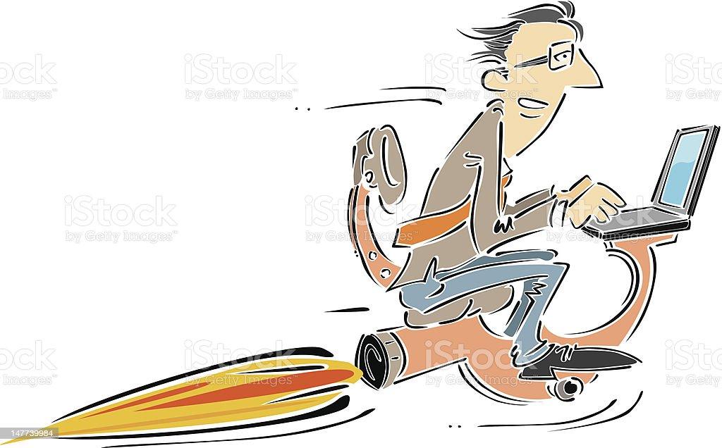 speed of technology vector art illustration