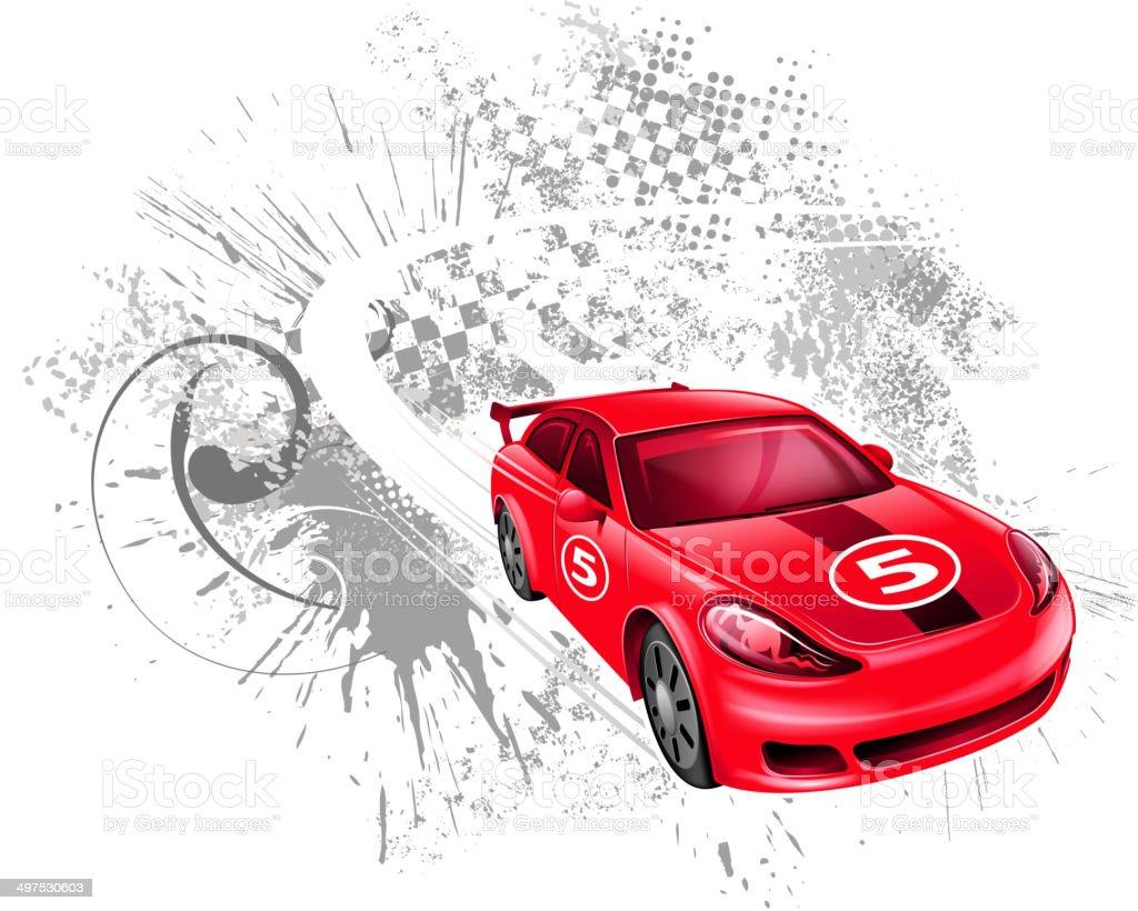 speed racecar vector art illustration