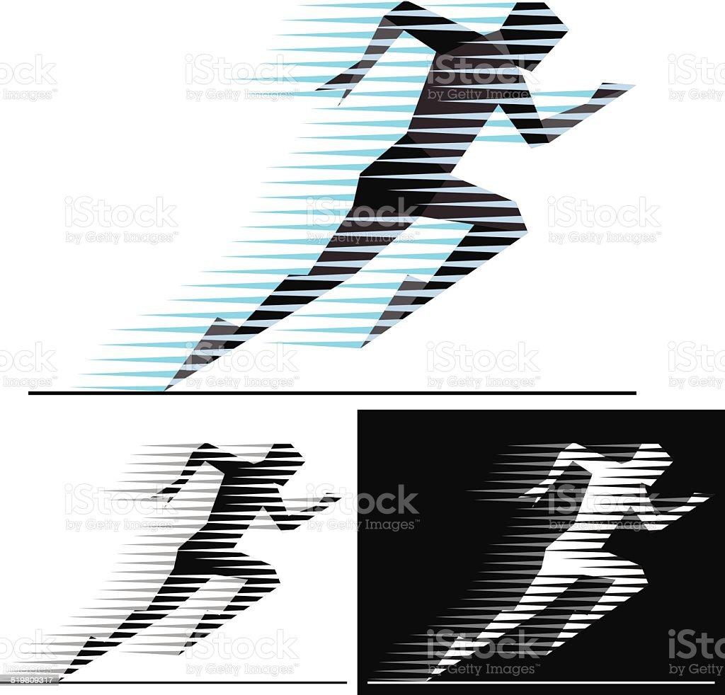 Speed runner vector art illustration