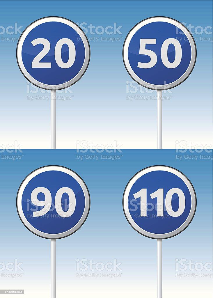 Speed traffic road board royalty-free stock vector art