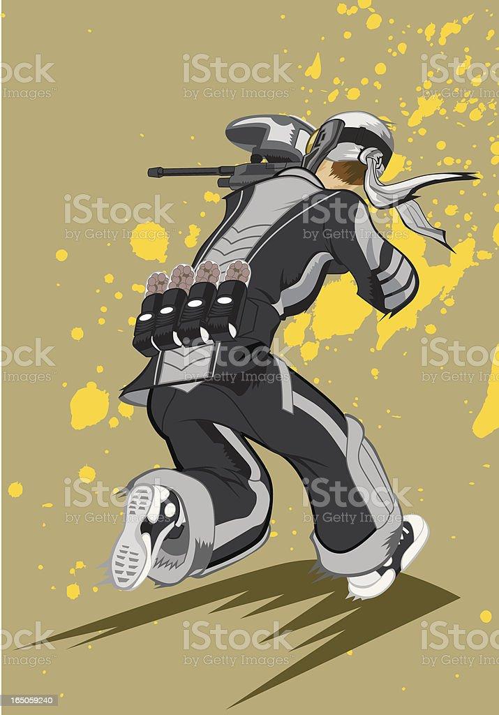 Speedballer in Grey royalty-free stock vector art