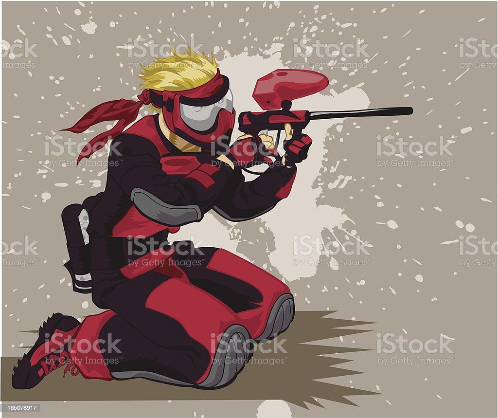 Speedballer in Red royalty-free stock vector art