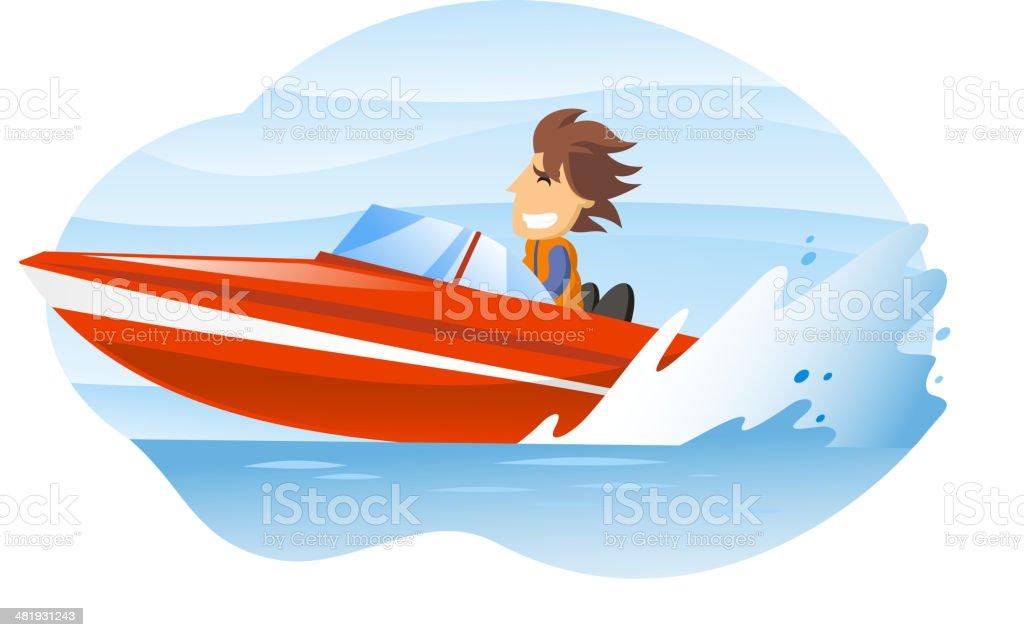Speedboat royalty-free stock vector art