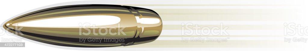 speeding bullet vector art illustration