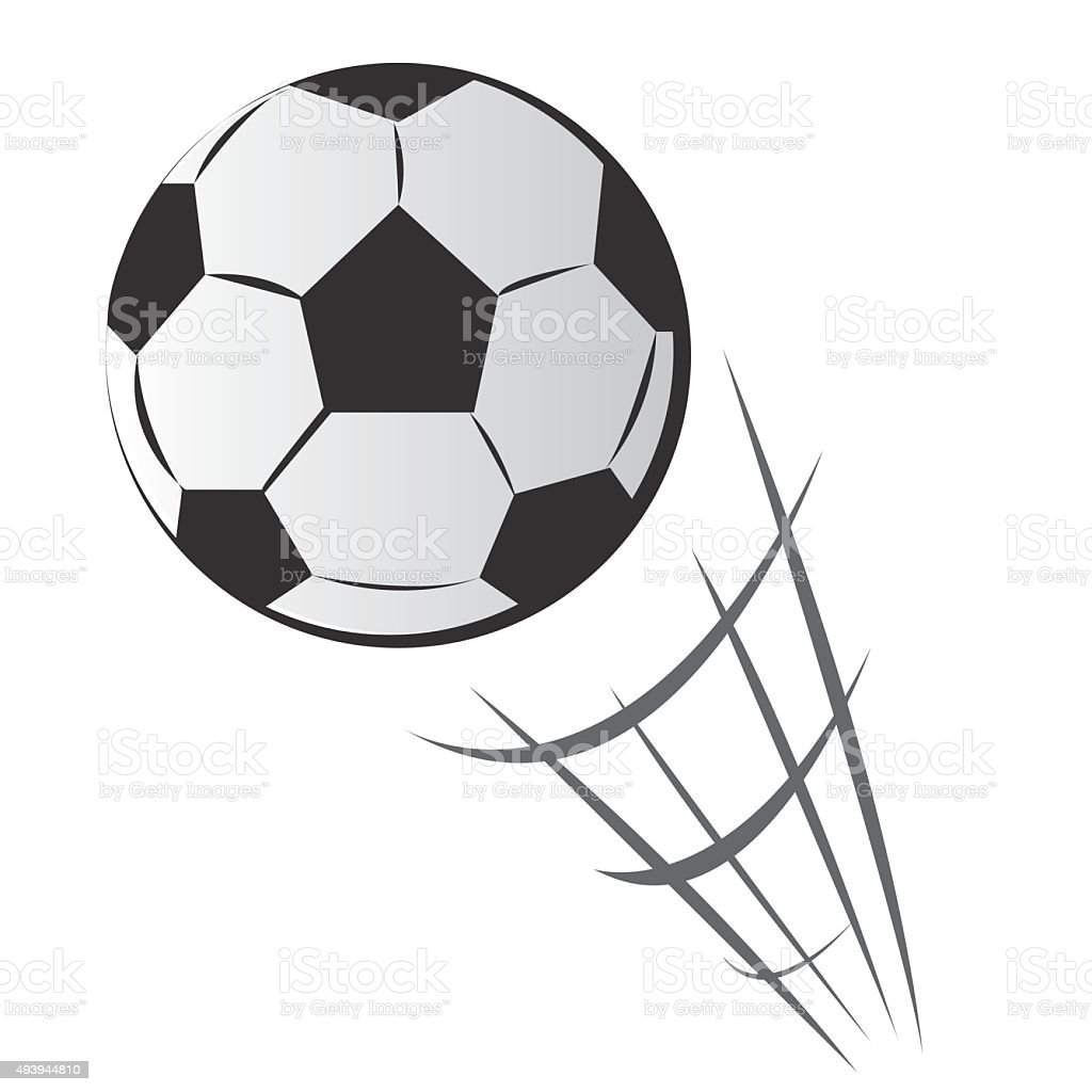 Speeding Soccer Ball Motion vector art illustration