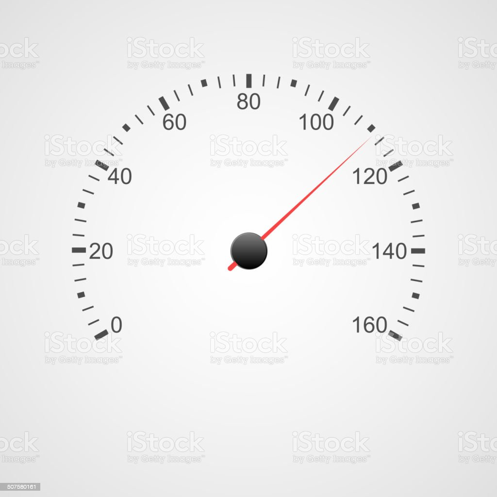Speedometer design. vector art illustration
