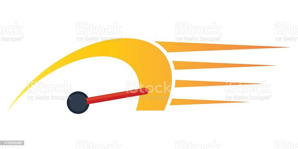 speedometer fast icon vector art illustration