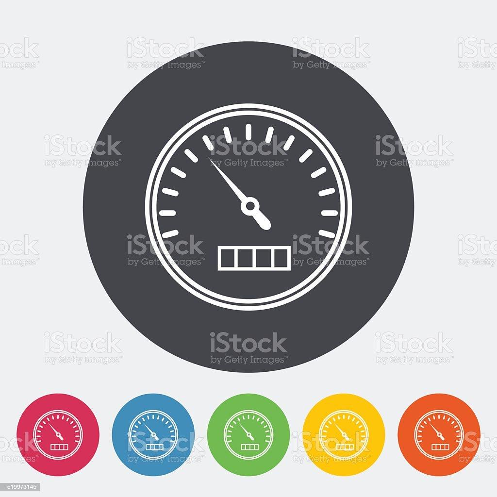 Speedometer flat icon. vector art illustration