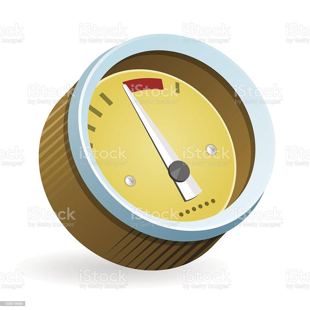 Speedometer Icon Illustration royalty-free stock vector art
